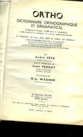 Ortho Dictionnaire Orthographique Et Grammatical - Couverture - Format classique