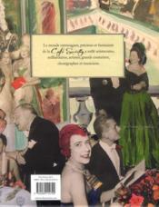 Café society ; mondains, mécènes et artistes 1920-1960 - 4ème de couverture - Format classique