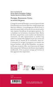 Pontigny, Cerisy, Royaumont : au miroir du genre - 4ème de couverture - Format classique