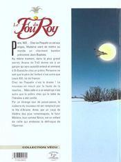 Le fou du roy t.1 ; le pavillon des singes - 4ème de couverture - Format classique