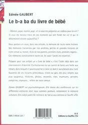 B.a. ba du livre de bebe (le) - 4ème de couverture - Format classique