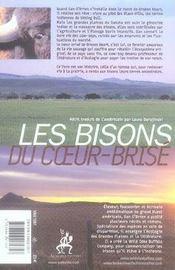 Les bisons du coeur-brisé - 4ème de couverture - Format classique