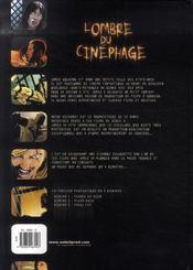 L'ombre du cinéphage t.3 ; final cut - 4ème de couverture - Format classique