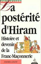 Posterite D'Hiram - Intérieur - Format classique