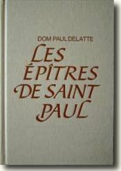 Les épîtres de Saint Paul - Couverture - Format classique