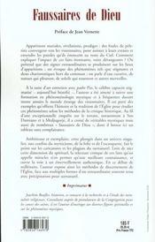 Faussaires De Dieu - 4ème de couverture - Format classique