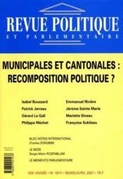 Revue Politique Et Parlementaire N.1011 ; Municipales - Couverture - Format classique