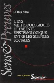 Liens Methodologiques Et Parente Epistemologique Entre Les Sciences Sociales - Intérieur - Format classique