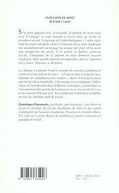 Pulsion De Mort (La) - 4ème de couverture - Format classique