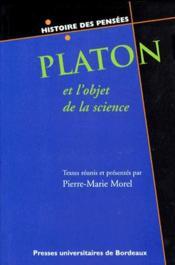 Platon et l'objet de la science - Couverture - Format classique
