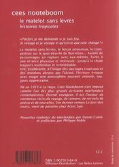 Les Matelots Sans Levres - 4ème de couverture - Format classique