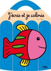 J'écris et je colorie le poisson - Couverture - Format classique