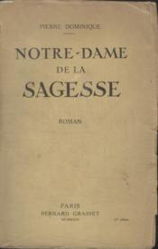 Notre Dame De La Sagesse. - Couverture - Format classique