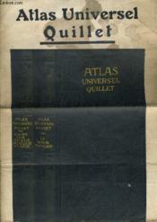 Plaquette Publicitaire De L'Atlas Universel Quillet - Couverture - Format classique