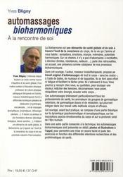 Automassage bioharmonique - 4ème de couverture - Format classique