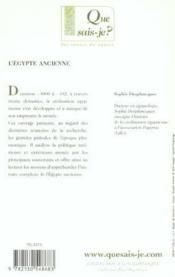 L'egypte ancienne qsj 247 - Couverture - Format classique