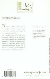 L'egypte ancienne qsj 247 - 4ème de couverture - Format classique