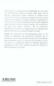 Islamistes Algeriens Au Coeur De L'Europe - 4ème de couverture - Format classique
