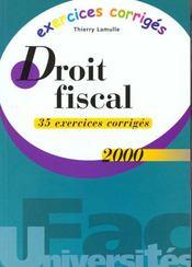 Exercice corriges droit fiscal 2000 - Intérieur - Format classique