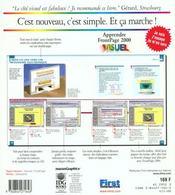 Apprendre Front Page 2000 - 4ème de couverture - Format classique