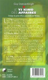 Le yi-king des affaires - 4ème de couverture - Format classique