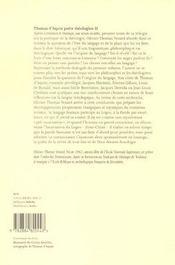 Thomas d'Aquin poète théologien t.2 ; la langue de l'ineffable - 4ème de couverture - Format classique