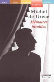 Mémoires insolites - Couverture - Format classique
