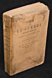 Journal de la guerre. Opérations militaires formant la deuxième partie de la guerre en 1870 - Couverture - Format classique