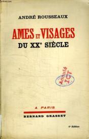 AMES ET VISAGES DU XXe SIECLE. - Couverture - Format classique