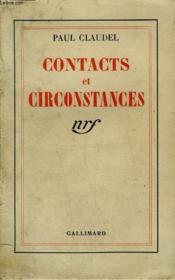 Contacts Et Circonstances. - Couverture - Format classique