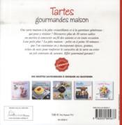 Tartes gourmandes maison - 4ème de couverture - Format classique