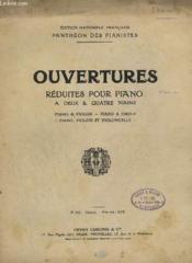 Ouvertures Reduites Pour Piano - A 2 Mains - P. 151 - D'Oberon De Ch.M. De Weber. - Couverture - Format classique