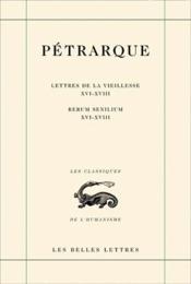 Lettres de la vieillesse ; seniles t.5 ; livres XVI-XVIII - Couverture - Format classique