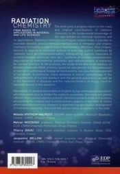 Radiation chemistry - 4ème de couverture - Format classique