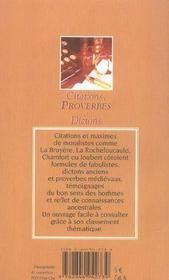 Citations Proverbes Et Dictons Poches - 4ème de couverture - Format classique