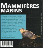 Mammiferes Marins - 4ème de couverture - Format classique