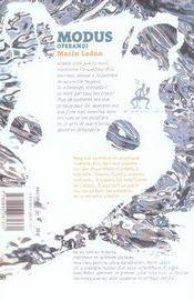 Modus operandi - 4ème de couverture - Format classique