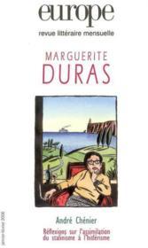 Europe Marguerite Duras 921/922 Janvier Fevrier 2006 - Couverture - Format classique