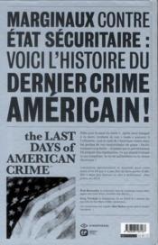 The last days of american crime t.3 - 4ème de couverture - Format classique