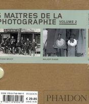 Coffret 55 : 5 maîtres de la photographie t.2 - 4ème de couverture - Format classique
