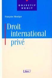 Droit international prive - Intérieur - Format classique