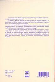 Droit international prive - 4ème de couverture - Format classique