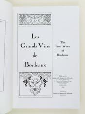 Les Grands Vins de Bordeaux. 1955. The Fine Wines of Bordeaux - Couverture - Format classique