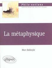 La Metaphysique - Intérieur - Format classique