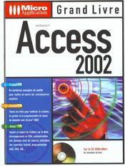 Grand Livre Access ; Edition 2002 - Intérieur - Format classique