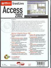 Grand Livre Access ; Edition 2002 - 4ème de couverture - Format classique