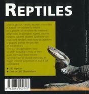 Reptiles - 4ème de couverture - Format classique