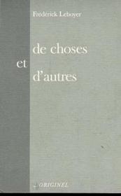 De Choses Et D'Autres - Couverture - Format classique