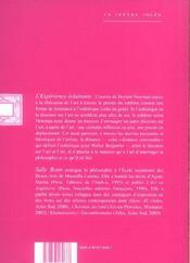 Experience eclairante (l') - 4ème de couverture - Format classique