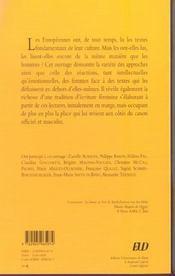 Lectrices ; la littérature au miroir des femmes - 4ème de couverture - Format classique